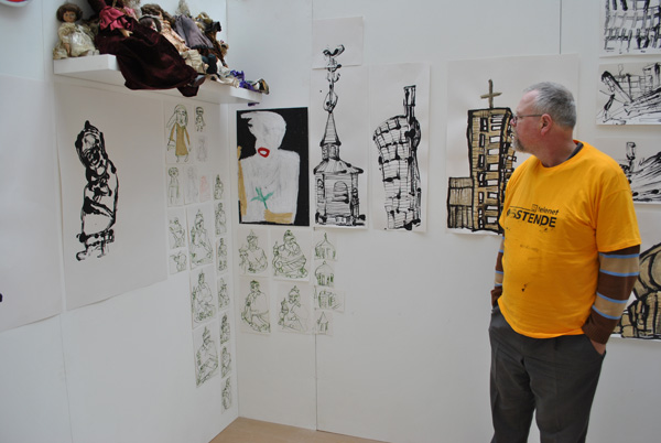 Selbermann with his work