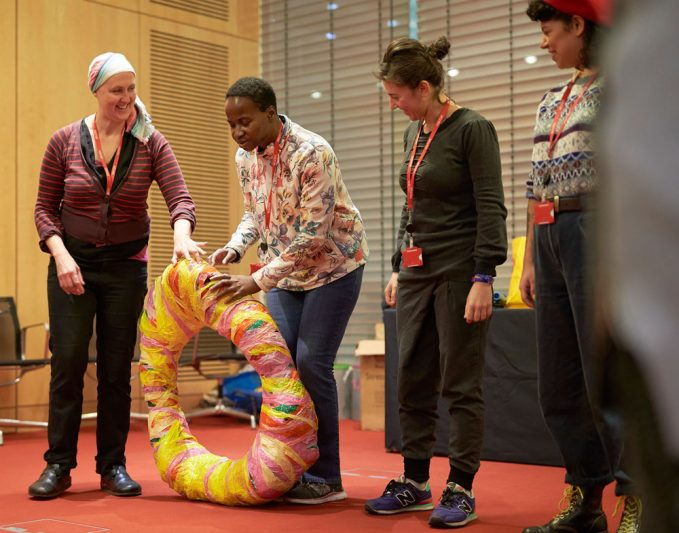 Nnena Kaly delivers a workshop for Wellcome Trust
